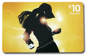 iTunes gift cards artikel