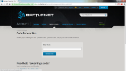Canjear un código Battle.net en Battle.net