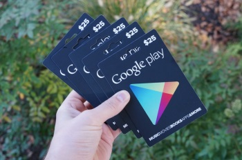 Google Play Cards komen er aan