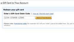 Redeem Amazon code on Amazon