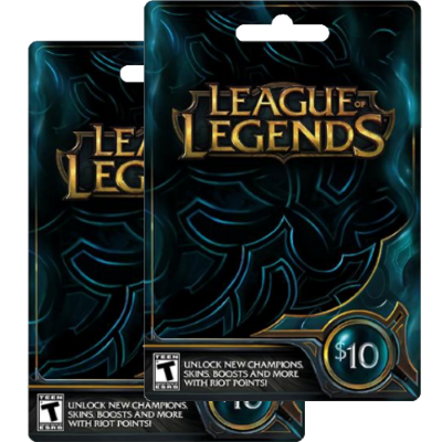 League of Legends giftcards