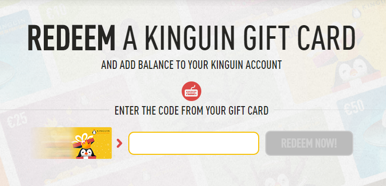 Redeem Kinguin code